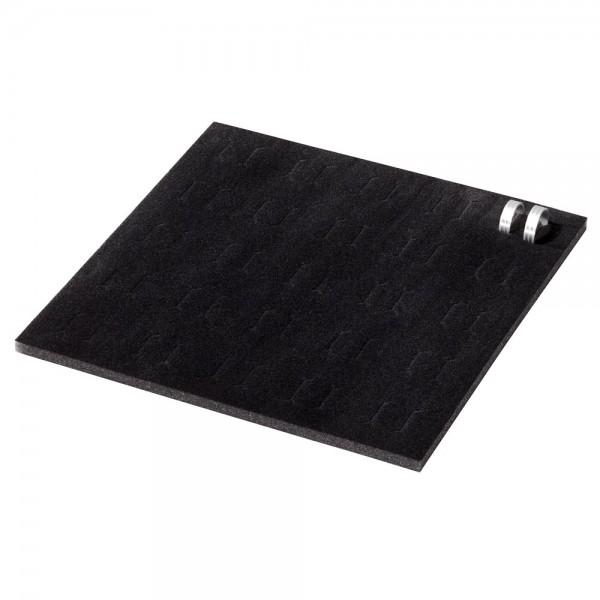 Flocked foam inlay, black 12 mm, for 25 pairs wedding rings